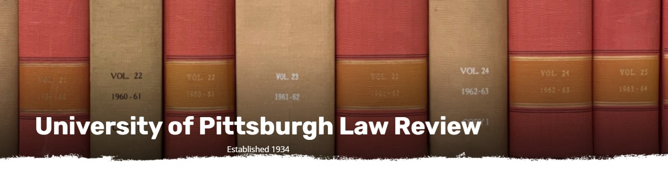 University of Pittsburgh Law Review